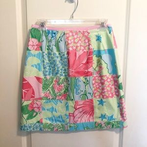 Lilly Pulitzer tropical pastel print skirt